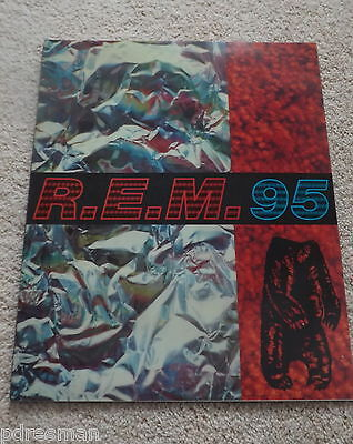 """ R.e.m. 95 ""  World Tour  Concert  Programme."