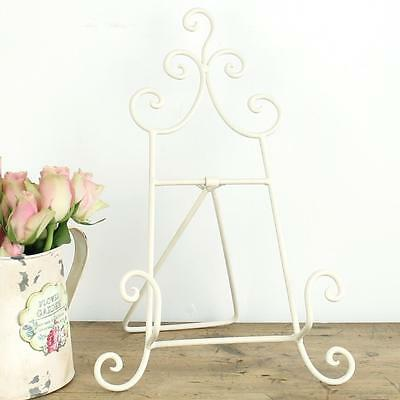 Cooking Book Easel Style Foldaway Metal Cream Recipe Cook Book Stand Shabby chic