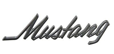 NEW! 1969-1973 Ford Mustang Chrome Script Fender Emblem With Pin style Back Each