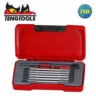 Teng 8pc Mini Screwdriver Set with PZ Pozi Flat & TX 120mm Blades TM708
