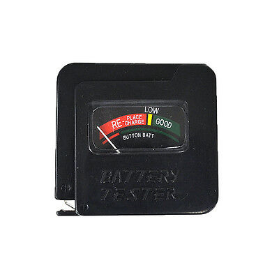 AA/AAA/C/D/9V/1.5V Universal Button Cell Battery Tester Checker Black