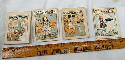 4 childrens Nursery Rhyme / miniature books / advertising RICH'S Proper Footwear
