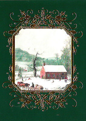 Currier & Ives Boxed Christmas Cards 16 Count Made In Usa Model Cd6100847