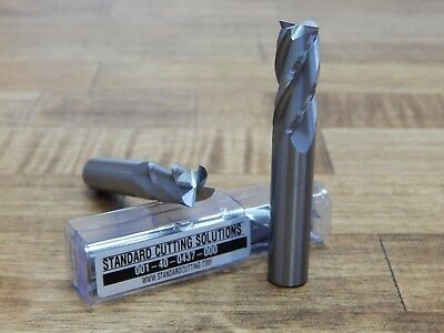 7/16 (.4375) 4 FL Carbide End Mill - SCS -**BRAND NEW** 001-40-0437-000