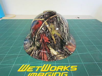 Hard Hat FULL BRIM custom hydro dipped , OSHA approved TRUE TIMBER CONCEAL CAMO