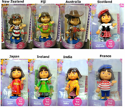 Dora Explores The World Figure Collection Select Your Favorite  Approx 12.7 Cm