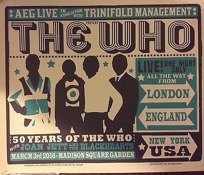 The Who 50 Msg Nyc Poster Print 103/275 Madison Square Garden Chris Hopewell
