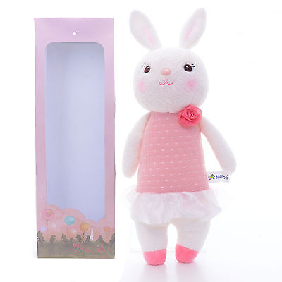 Official METOO Pink Rose Tiramitu Bunny Rabbit Plush Kids Toy Doll + Bag 11''