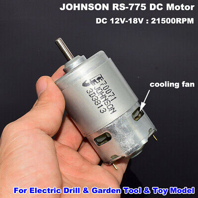 JOHNSON RS-775 DC 12V~18V 21500RPM High Speed 775 Motor for Garden Drill Tool