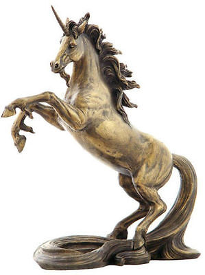 10.75 Inch Unicorn with Long Tail Statue Fantasy Magic Figurine Collectible