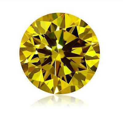 Cubic Zirconia Bright Citrine Yellow Round AAA Rated CZ Loose Stones(1mm - 17mm)