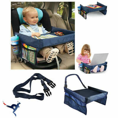 Waterproof Kids Baby Portable Safety Car Seat Lap Travel Tray Activity Table AU
