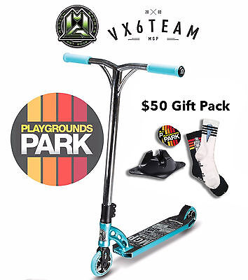 MGP VX6 TEAM scooter + $50 Gift pack, 2016 Teal / Chrome Madd Gear