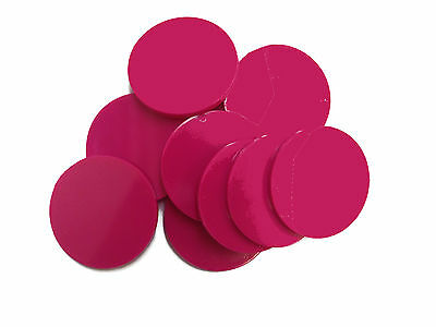 Plain Plastic Tokens - 38mm Pink - Great for events or voting boxes, 10, 50+