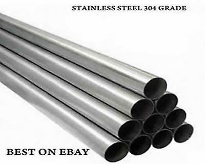 """T304 2.5"""" 63.5 Mm Approx Stainless Steel Tube Exhaust Pipe All Lengths Available"""