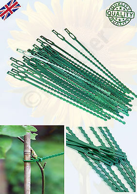 NEW Reusable Garden Plastic Plant Cable Ties Adjustable Tree Climbing Support