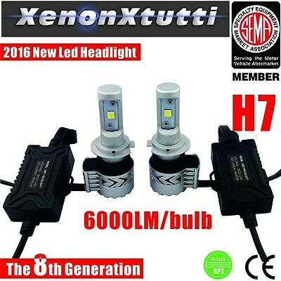 Kit Full Led Xenon 12000Lm Lumen H7 6000K Lampade Led Slim