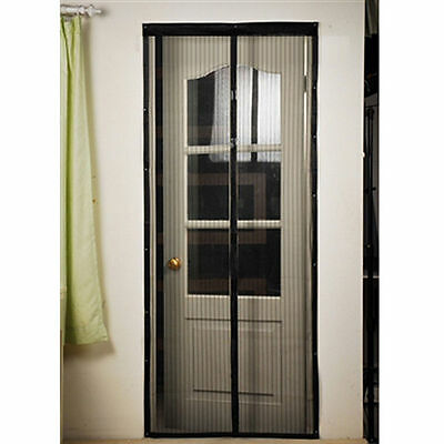 Hands Free Magic Mesh Screen Net Door with magnets Anti Mosquito Bug Curtain A