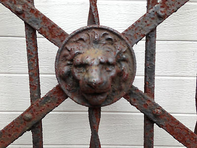 Antique Wroght Iron Fence - Stunning Victorian Lion's Head - 1800s - Read Below