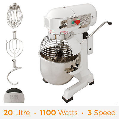 Commercial Food Spiral Mixer Stand Dough Planetary Cake Bakery Equipment 20L