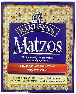 Rakusens Traditional Matzos 300g (Pack of 10)