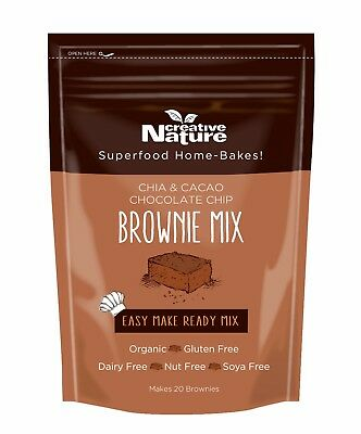 Creative Nature Chia And Cacao Chocolate Chip Brownie Mix 400g