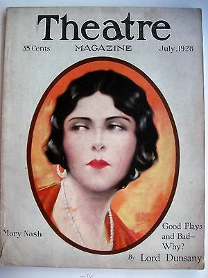 """Vintage July1928 """"Theatre Magazine"""" w/ Mary Nash Pictured by Hal Phyfe  (N)*"""