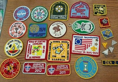 Vintage Lot of 24 Boy Scouts Patches 1960s 1970s 1980s