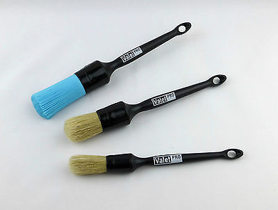 Valet PRO Sash Alloy Wheel / Detailing Brush Set of 3 Brushes