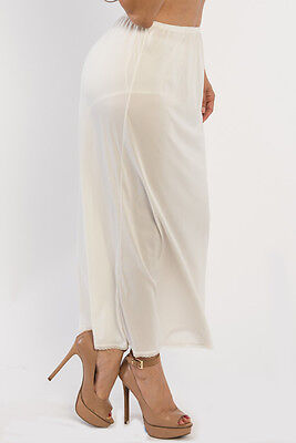"35"" Length Women Plain Long Half Slip Ladies 100% Polyester Size S M L XL 2X 3X"