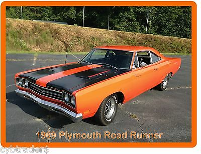 1969 Plymouth Road Runner Auto Refrigerator / Tool Box Magnet