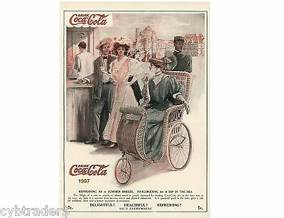 1907 Coke Cola Ad  Refrigerator / Tool Box Magnet  Man Cave