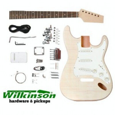 DIY Guitar Kit - Guitar Kit Strat Mahogany/Flame Maple Pro