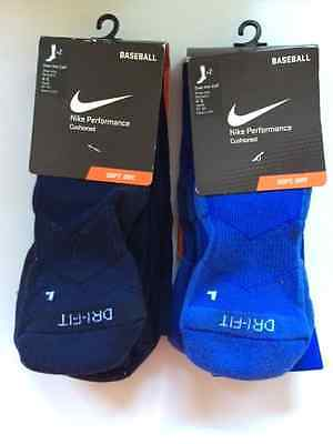 Nike Performance Baseball Socks (2 pack)-Over the Calf Youth 3Y-5Y/Small4-6 Blue