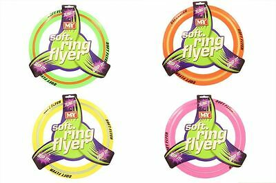 Coloured Flying Frisbee Soft Ring Flyer Dog Puppy Play New Pet Outdoor Disc Toys
