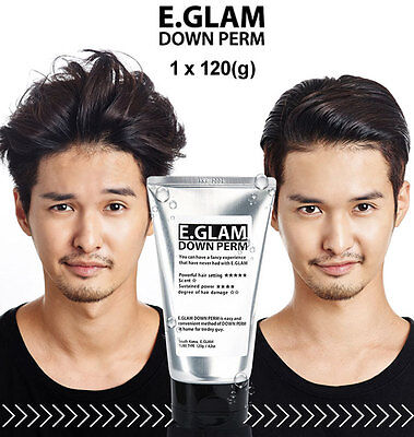E.GLAM Down Perm Men Side Hair Mohican Style Self Speedy Easy Kit x 1pcs (120g)