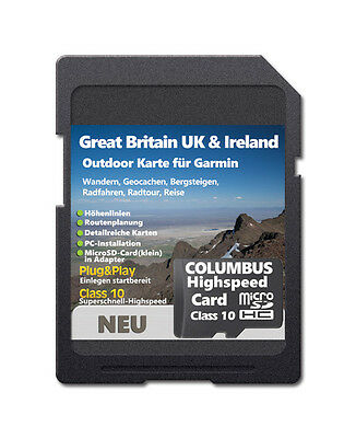 ��Great Britain UK & Ireland Topo Outdoor Map Compatible with Garmin devices