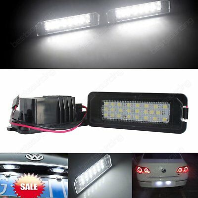 6000K White LED Number Plate Light VW Passat Golf GTI CC Scirocco Polo Lupo Eos