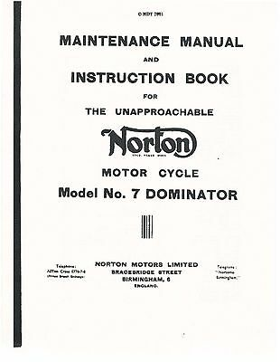 norton dominator model 88 99 workshop manual ca 1958 free rh picclick com Norton Cafe Racer Norton Cafe Racer