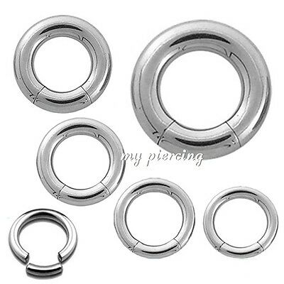 rm/_sp 316L Surgical Steel Hinged Septum Ring//Clicker Ear Segment 16G 14G 12G 10G