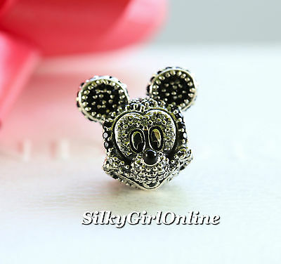 5bc002b1d ... Sparkling Mickey Portrait Charm USB794400 Beads Fits Pandora Bracelets  100% 925 Sterling Silver Jewelry Sparkling Mickey Portrait Original Fashion  ...