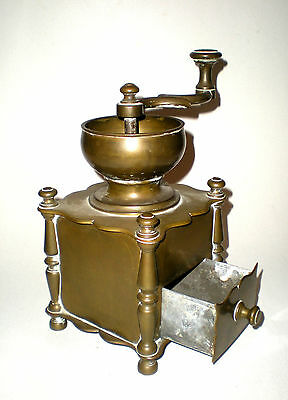 Rare Antique Brass Coffee Grinder