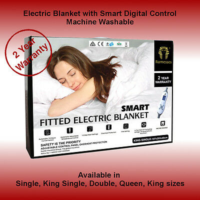 Luxury Brand New Fitted Electric Blanket - All Sizes Available- Machine Washable