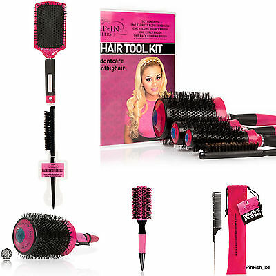Styling Brushes by Sleep in Roller Massive Fringe Brush, Back Comb, Paddle, Tail