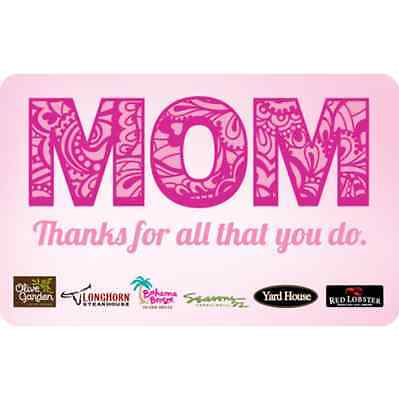 Bahama Breeze Island Grill - Mothers Day Gift Card $25 $50 $100 - Email delivery