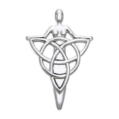 Danu Goddess Triquetra Pagan Wicca Sterling Silver Pendant by Peter Stone
