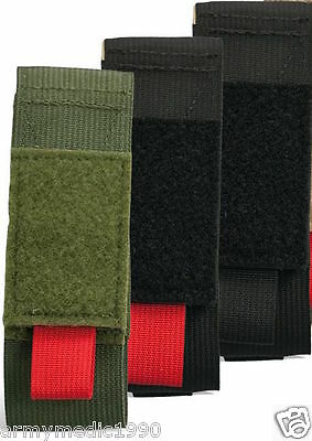 CAT Combat Application Tourniquet pouch case holder  Color BLACK/ RED pull tab