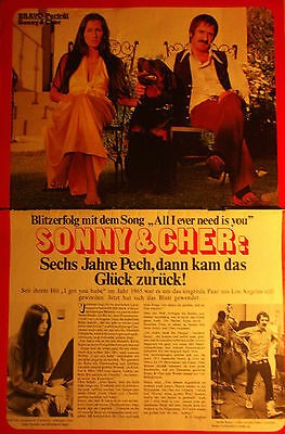 2 german clipping CHER BONO NOT SHIRTLESS GAY INT. SINGER BOYS BAND BRAVO 1973
