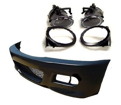 Front bumper kit & foglamps foglights for BMW E46 coupe convertible. M3 bumper