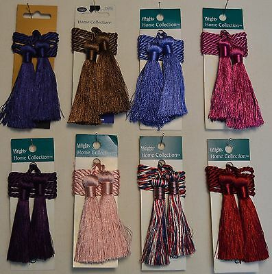 "Curtain & Chair Tie Back -27""spread with 3"" double tassel-Set of 2- 14 colors!!!"